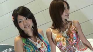 大阪オートメッセ 2010 BEWITH 唇が濡れている美人コンパニオン!!