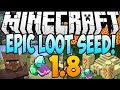 Minecraft 1.8 Seeds: EPIC LOOT SEED! 9 Diamonds, 2 Temples, 2 Villages AT SPAWN (Minecraft 1.8) 2014