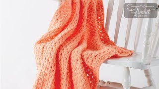 How to Crochet A Baby Blanket: Easy Peasy