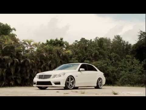 "Mercedes Benz E63 on 20"" Vossen VVS-CV3 Concave Wheels / Rims"