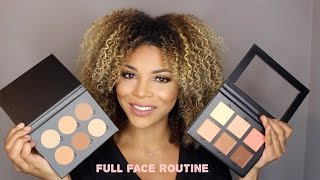 getlinkyoutube.com-Full Face: Using ABH Cream & Powder Contour  | DeniseAsiAm