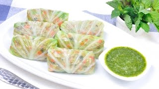 getlinkyoutube.com-กะหล่ำปลีลุยสวน Cabbage Wrap with Pork and Vegetable