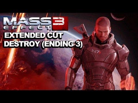 *SPOILERS* Mass Effect 3 Extended Cut DLC Destroy Ending