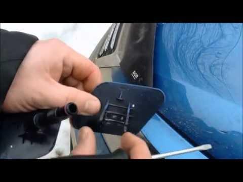 Снятие форсунки омывателя фар - KIA Sportage SL- headlights washer