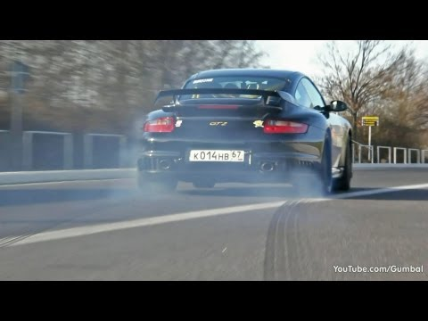 Porsche 997 GT2 Stage 2 PP-Performance - Crazy LAUNCH CONTROL!