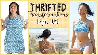 getlinkyoutube.com-Thrifted Transformations | Ep. 15 (DIY Swimsuit)