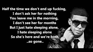 getlinkyoutube.com-Hate Sleeping Alone - Drake // Lyrics On Screen [HD]