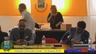Elezione Presidente Consiglio   Consiglio Comunale Cariati 22 giugno 2018