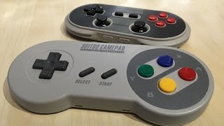 getlinkyoutube.com-The Handlebar Gamer - 8bitdo SNES Bluetooth Controllers!