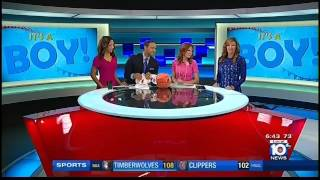 getlinkyoutube.com-2 4 16 @ 6 42 am WPLG Julie Durda's Baby Boy + HEAT Gear