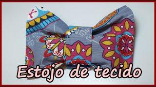 getlinkyoutube.com-DIY -  Volta as aulas  -  Como fazer um Estojo de tecido -