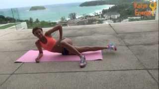 Секси - БЕДРА / Упражнения для бедер внутри+растяжка TAG: #фитнес