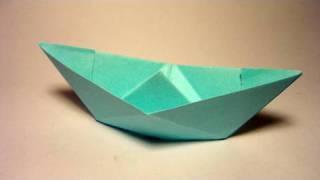 getlinkyoutube.com-Traditional Origami Boat - Barquinho de origami tradicional