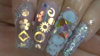 getlinkyoutube.com-How to winter coffin nails and 3d art