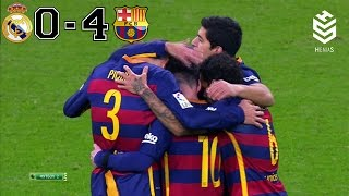 getlinkyoutube.com-Real Madrid vs Barcelona 0-4 ● All Goals and Full Highlights ● English Commentary ● 21-11-2015 HD
