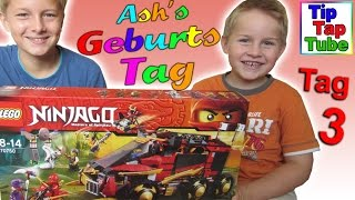 getlinkyoutube.com-Lego Ninjago 70750 Mobile Ninja Basis Ash's Geburtstag Spielzeug Geschenke auspacken Kinderkanal