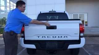 getlinkyoutube.com-2016 Toyota Tacoma How To Remove Tri-fold Tonneau Cover Enterprise Alabama Dothan AL