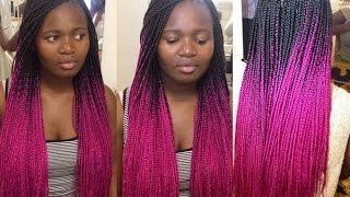 getlinkyoutube.com-How To do Box Braids | Pink Tutorial
