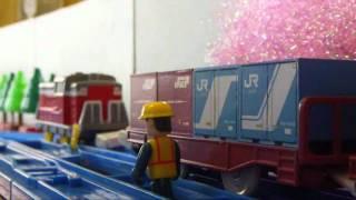 プラレール貨物列車20 【北王子貨物駅の紙輸送列車】 Plarail Freight Trains 20