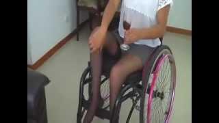 getlinkyoutube.com-Paraplegic Wheelchair Lindas Chairem Return