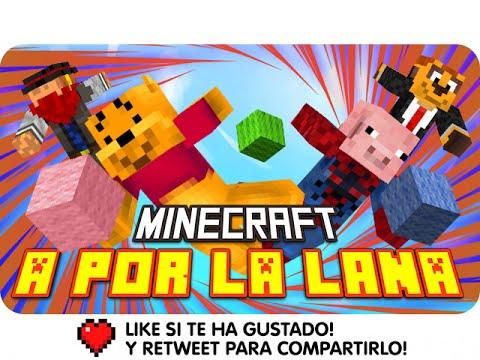 A POR LA LANA!! | Minecraft Race Wool con Exo, Macundra, Sarinha y Luh