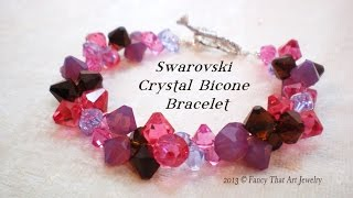 getlinkyoutube.com-Swarovski Crystal Bicone Bracelet Video Tutorial