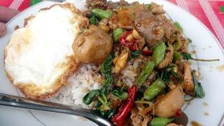 ผัดกระเพรานากะสัง Nakasang street food