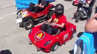 getlinkyoutube.com-PowerWheels Racing - NIMBY Ferrari Kart FIRE!! (Maker Faire 2013)