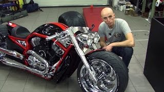 getlinkyoutube.com-Bike Motors - Supercharged Harley-Davidson V-Rod