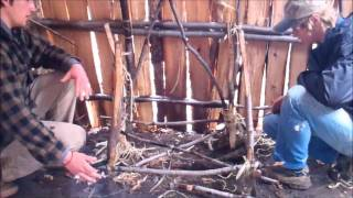 getlinkyoutube.com-Bushcraft Shelter Furniture: Folding Table