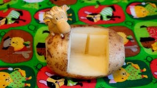 getlinkyoutube.com-How To Make Potato Carving Sofa Couch  - Vegetable Carving Garnish - Party Garnishing