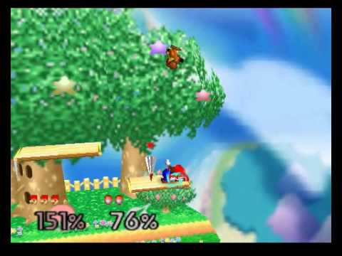 Mini Video - Super Smash Bros N64 Peleas (Modo Very Hard) - Samus (pc) vs Mario (yo)