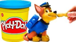 getlinkyoutube.com-Paw Patrol Chase Stop Motion Play Doh claymation plastilina playdo Patrulla canina de cachorros