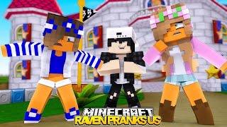 getlinkyoutube.com-RAVEN PRANKS LITTLE KELLY AND CARLY! Minecraft w/Leo (Custom Roleplay)