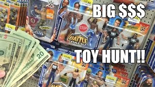 getlinkyoutube.com-FOUND MONEY WWE TOY HUNT! Elite 37, NEW Battlepack Wrestling Figures at WALMART