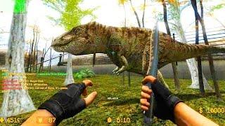 getlinkyoutube.com-Counter Strike Source Zombie Escape mod online gameplay on Jurassic Park Escape map