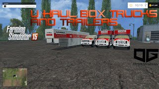 getlinkyoutube.com-Farming Simulator 2015 Mods- U-Haul Box Truck and Trailer Pack