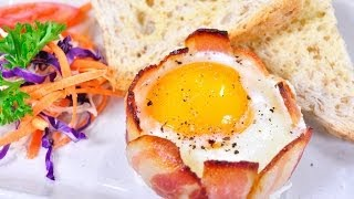 getlinkyoutube.com-ไข่ถ้วยเบคอน Bacon Egg Cups