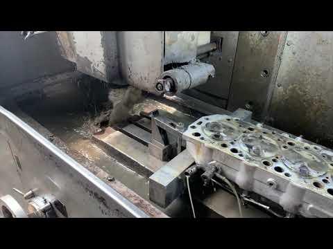 Запчасти в работе: фрезеровка плоскости ГБЦ двигателя 2.5л дизель D4BH от Hyundai Porter