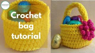 Spring Basket Crochet Tutorial
