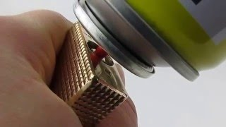 getlinkyoutube.com-How To Refill Easy Fast and Cheap Large S. T. Dupont Ligne 1(RED CAP) from 70's with Gas