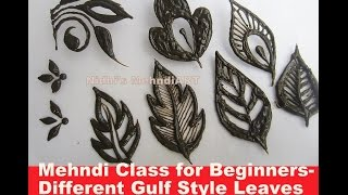 getlinkyoutube.com-Mehndi Class for Beginners- Different Gulf Style Leaves Tutorial with Explanation
