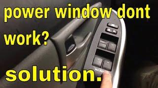 Power window dont work from main switch toyota lexus scion subaru.