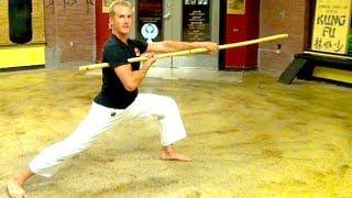 getlinkyoutube.com-Bo Staff Skills of Kung Fu