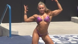 getlinkyoutube.com-Ariella Palumbo Physique Short Routine at Muscle Beach 7/4/13