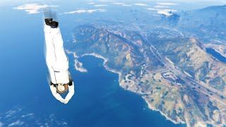 HIGHEST DIVE IN HUMAN HISTORY! (GTA 5 Funny Moments)