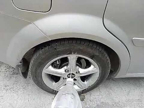Где находятся передние тормозные диски в Chevrolet Evanda