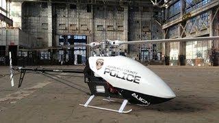 getlinkyoutube.com-Alan Szabo Jr. ALIGN Trex 700E DFC Driftpocalypse Police Drone 4/15/2013