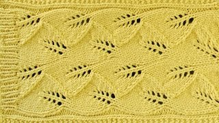 getlinkyoutube.com-LACE LEAF SCARF -  Lace Knitting Repeat Explained Stitch by Stitch. Part 1