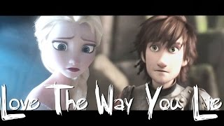getlinkyoutube.com-v. Elsa|Hiccup|Astrid - Love The Way You Lie (ft. Anna)